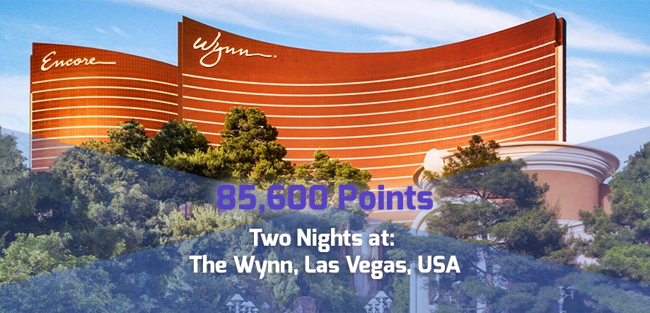 85,600 point reward: Two nights: The Wynn, Las Vegas for corporate travel points